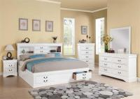 Louis Philippe III White Bedroom Set with Storage