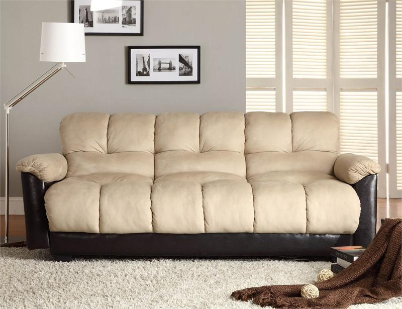 coaster tess sectional sofa orange and brown click-clack beige futon piper collection style 480mfr