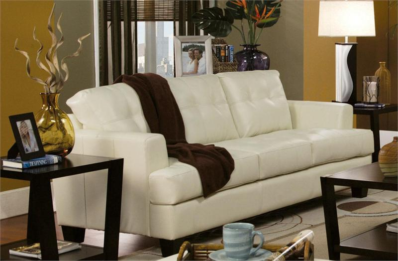 loveseat sleeper sofa leather softline sleep bed cream set samuel collection item 501691