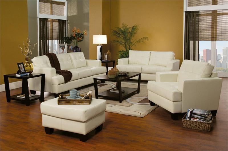 loveseat sleeper sofa leather chesterfield green cream set samuel collection item 501691