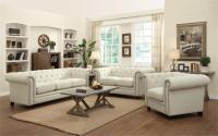 Roy Oatmeal Linen Sofa Set Coaster 504554