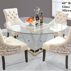 Round Living Room Set Traditional Furniture Sets Dining Table With Mirror Base Yj001