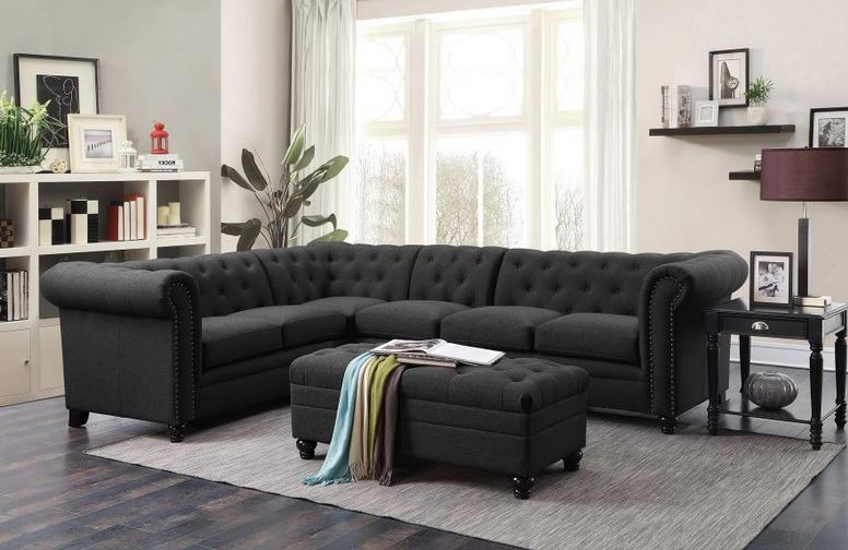 coaster tess sectional sofa leather cleaning service malaysia 500292 roy grey linen