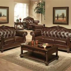 Leather Sofa Set For Living Room Ashley Furniture Traditional Sets Anondale Acme Top Grain 15030 15031 15032