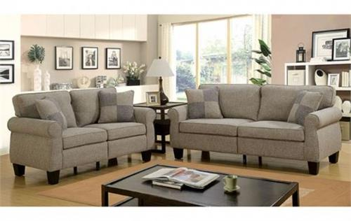 beige sofa set sectional with recliner and chaise cm6328 rhian light grey collection