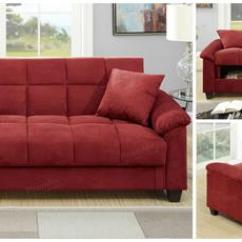 Coaster Tess Sectional Sofa How To Make Arm Protectors F7890 Poundex Red Microfiber Adjustable