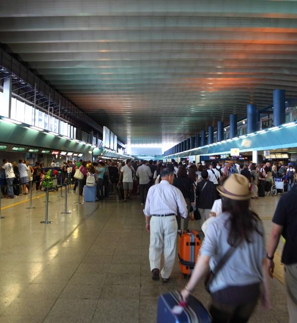Fiumicino International Airport Terminals. Rome