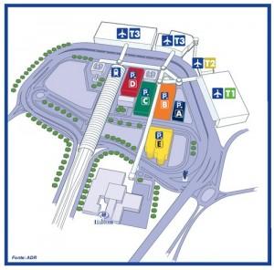 Hilton Rome Airport location