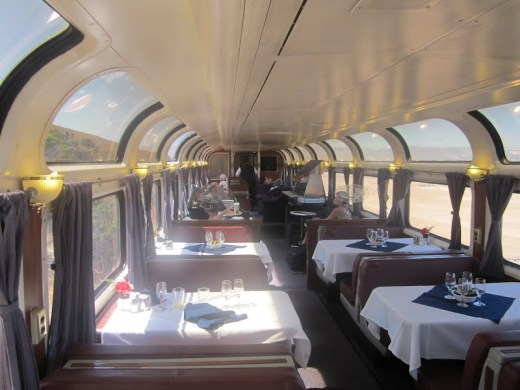 Inside Amtrak's Dining Car on Coast Starlight