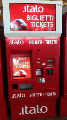 Italo ticket machine Italy