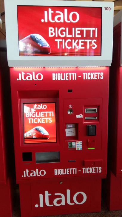 Italo's machines for ticket pick up and purchase. (Credit: Wikimedia Commons)