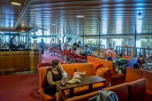 Inside Jadrolinija ferry - comfortable seating and air-conditioning