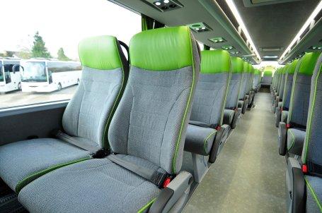 Reclining seats inside FlixBus