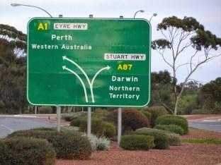 Port Augusta signpost
