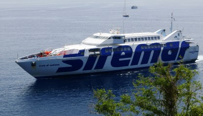 Siremar ferry travelling by boat in Italy