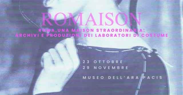 Romaison 2020 Exhibition at Ara Pacis Museum in Rome