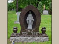 Custom Designed Upright Monument with Blessed Mother for 2 ...