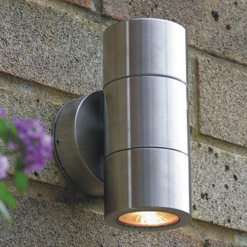 marine grade stainless steel exterior wall up downlight