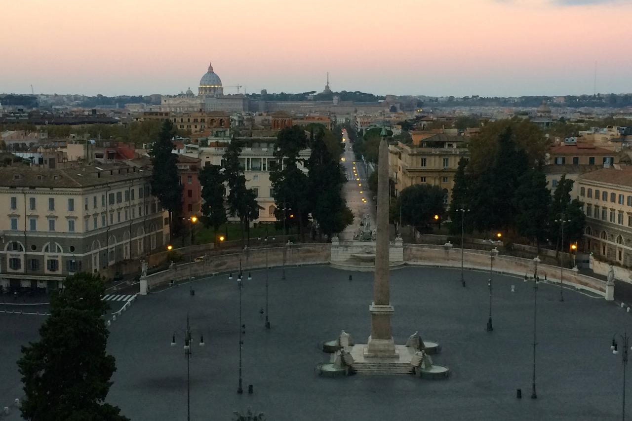 piazza del popolo from pincio
