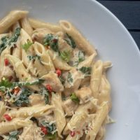 Creamy Cajun Chicken and Spinach Pasta
