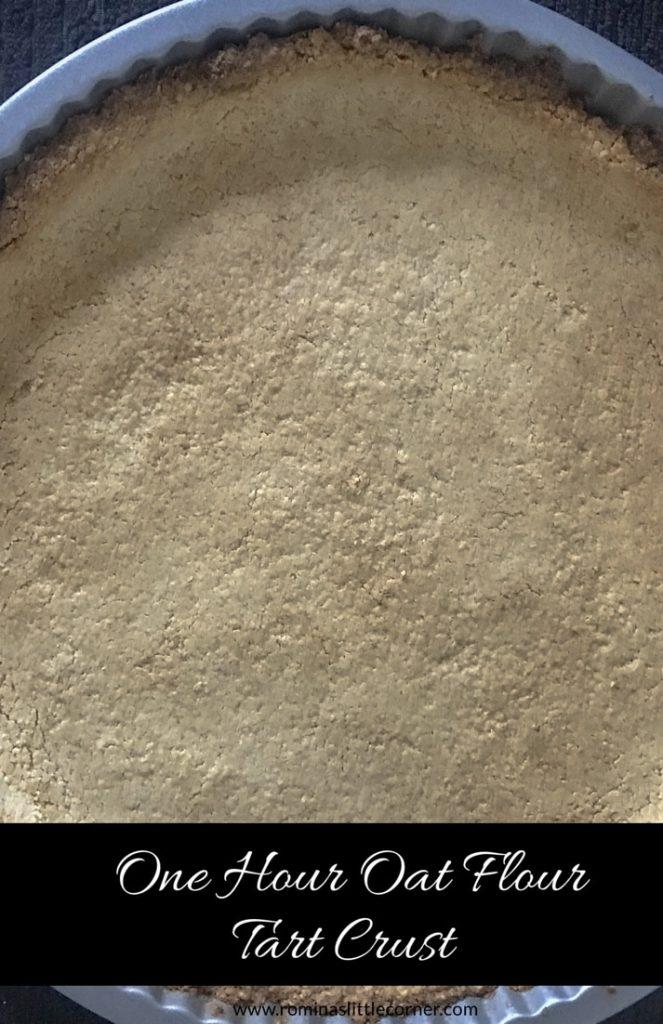 Pinterest image for oat flour crust recipe