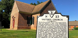 route 17 historical marker, vauters historical sign