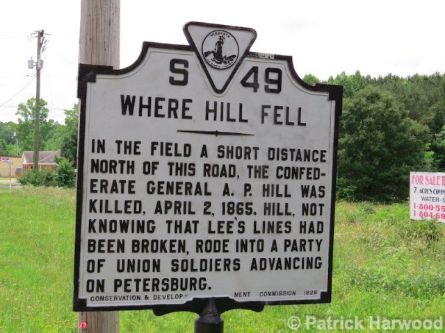 ap hill death, ap hill historical marker