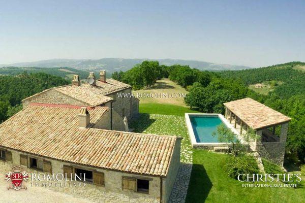 Umbria FARMHOUSE WITH POOL FOR SALE TODI a luxury home