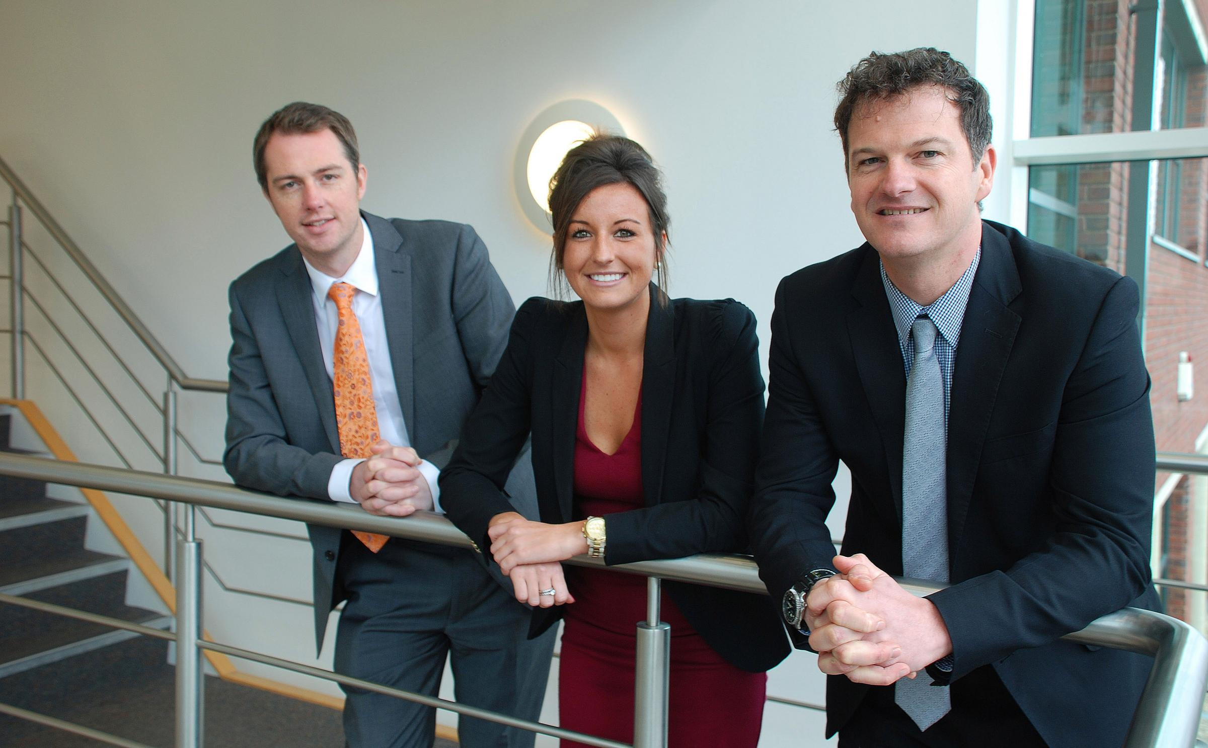 Romsey Advertiser: Appoint Group founder Simon Berry, lead  recruitment consultant Erin Banner and Russell Mogridge, the business space director at commercial property consultancy Hughes Ellard