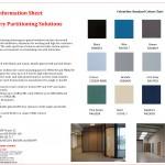 Colourline Framed Partitions Information Sheet