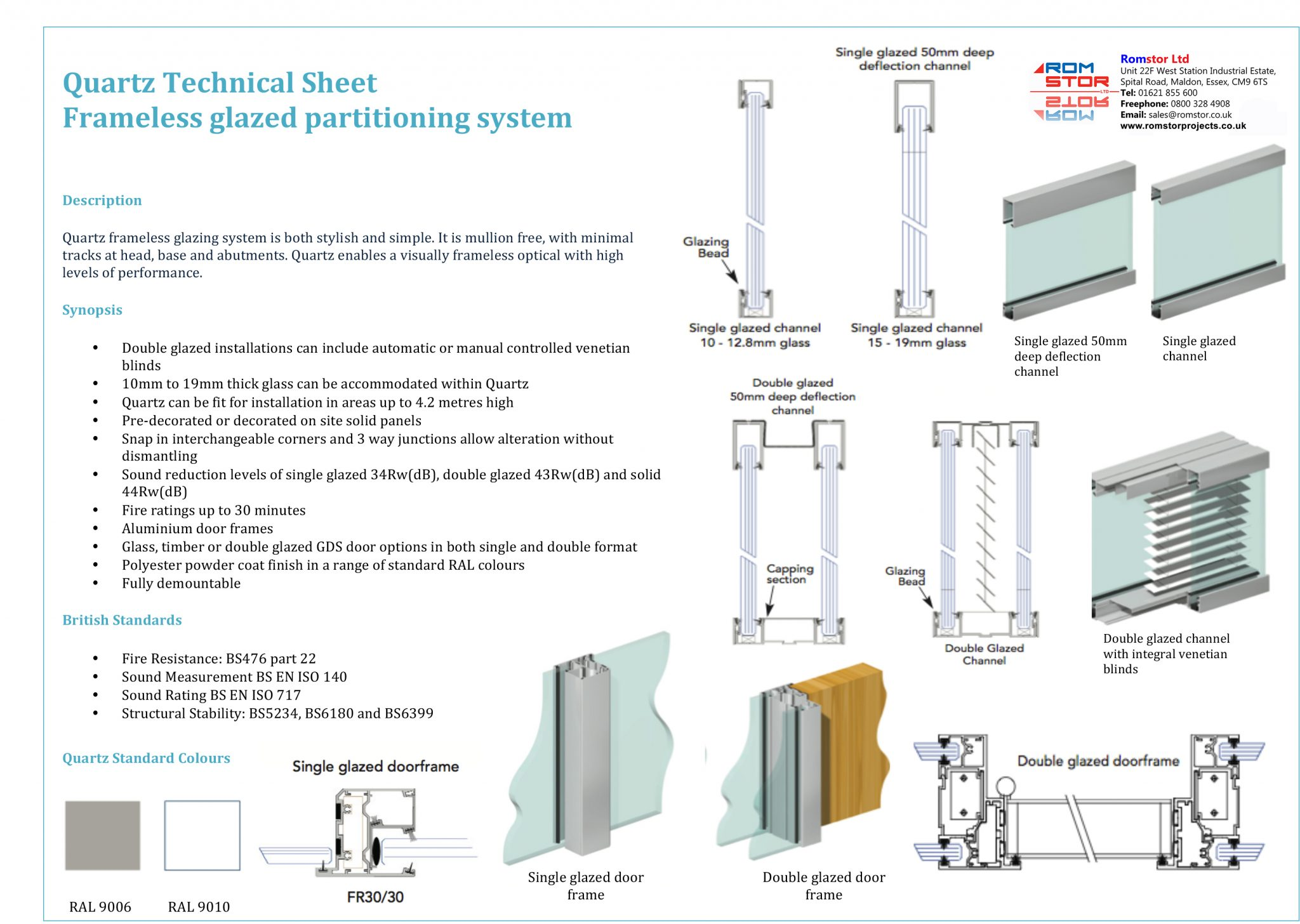 Frameless Glass Partitions Romstor Projects Double Glazing Diagram Technical Information