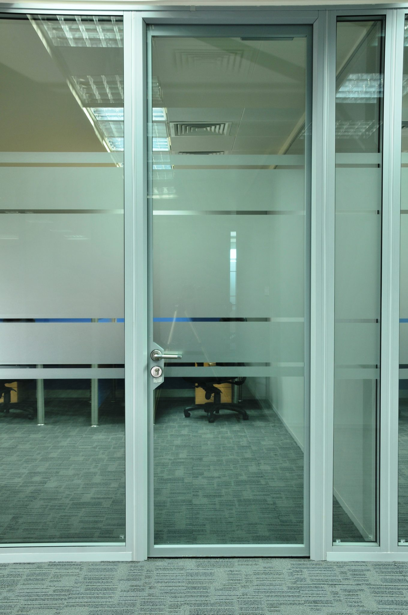 Glass Doors Romstor Office Partitioning Projects