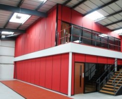 After Mezzanine Floor Installation
