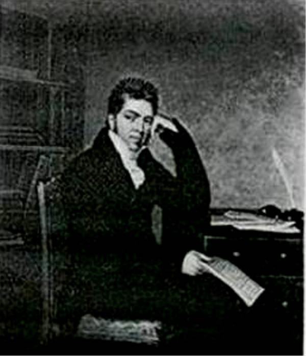 Fig. 1. Pierce Egan (c. 1772–1849), by George Sharples