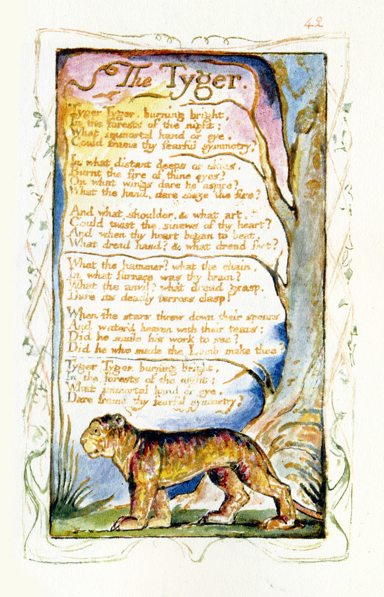 teaching r ticism vi william blake r tic textualities we spend time first the blake archive where we compare various copies of some of the songs of innocence and songs of experience and when i explain