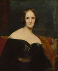 Mary Shelley by Richard Rothwell, exhibited 1840. National Portrait Gallery.