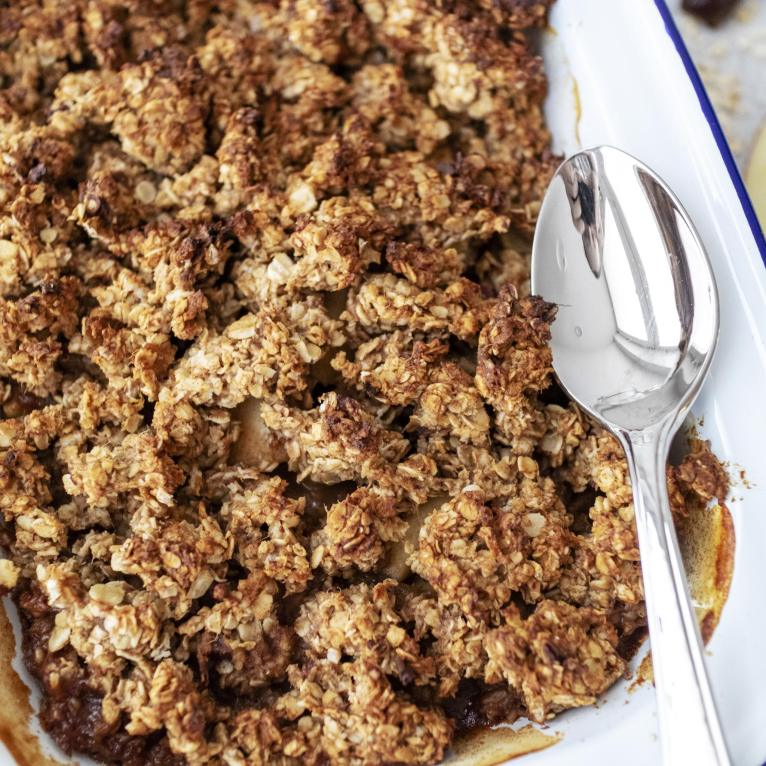Vegan Breakfast Apple Crumble Recipe Refined Sugar Free