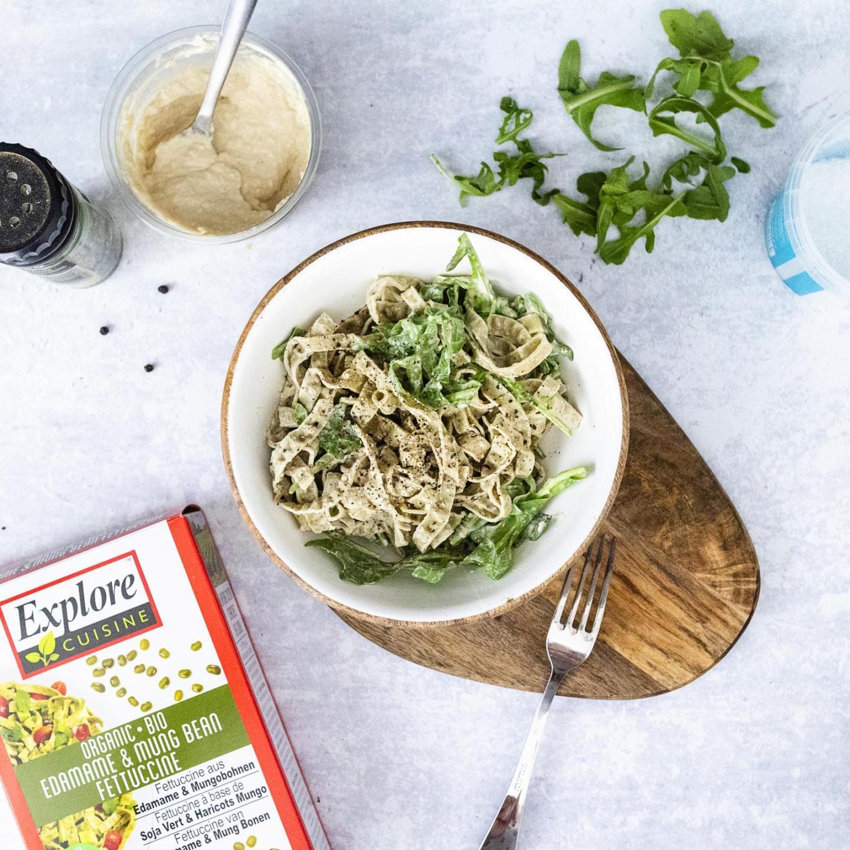 Simple Hummus Pasta Salad