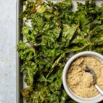Vegan Cheese & Onion Kale Chips