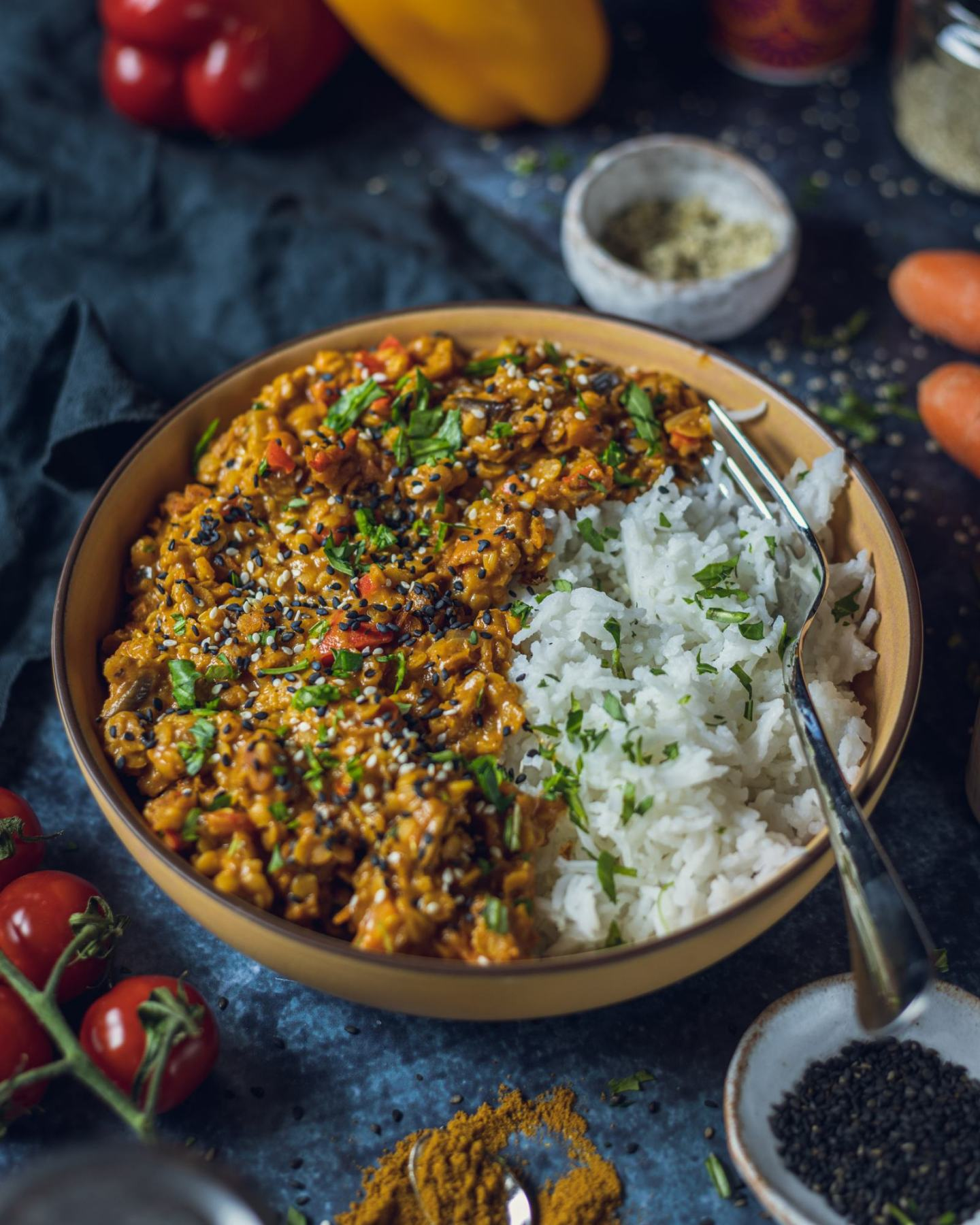 Easy Vegan Red Lentil Dhal Recipe