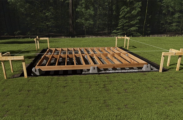 solid foundation for your storage shed