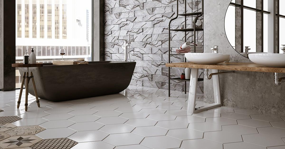 choix de plancher de salle de bain rona