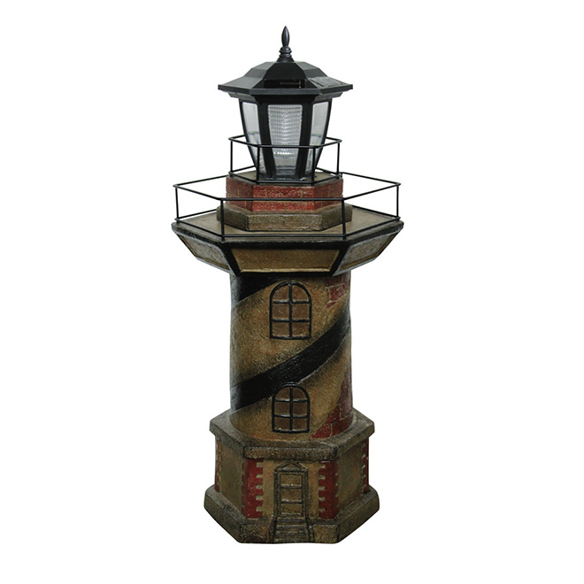 Lighthouse Statue with Solar Light  RONA