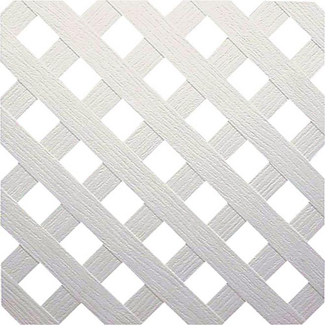 Treillis Intimit En PVC Blanc RONA