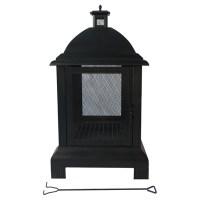 "Outdoor Fireplace - 24"" x 24"" x 44"" - Steel - Black | RONA"