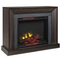 Electric Fireplace with Mantle - 5100 BTU - 1500W - Walnut ...