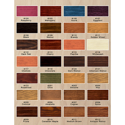 Interior Wood Stain Color Chart: Interior Wood Stain Colours