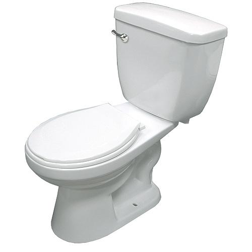 Round Front 2Piece Toilet 6 L White  RONA
