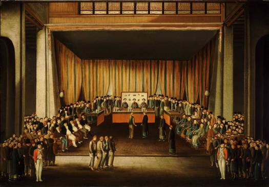 Court Room Trial of Four British Seamen at Canton