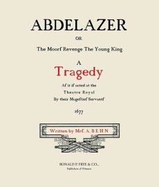 Abdelazer: A Tragedy